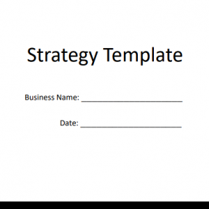 strategy template