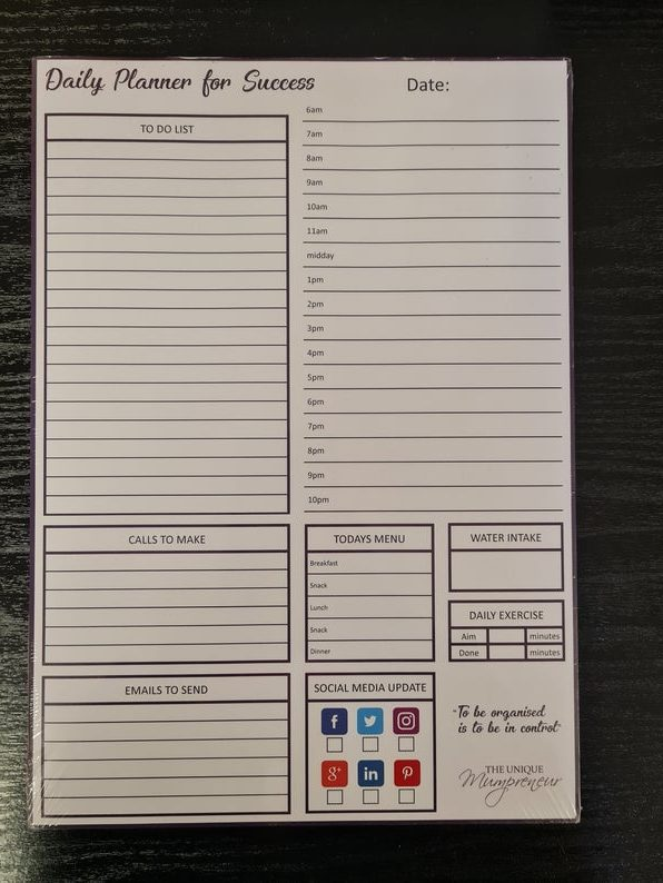 Vertical 90 Day Daily Planner